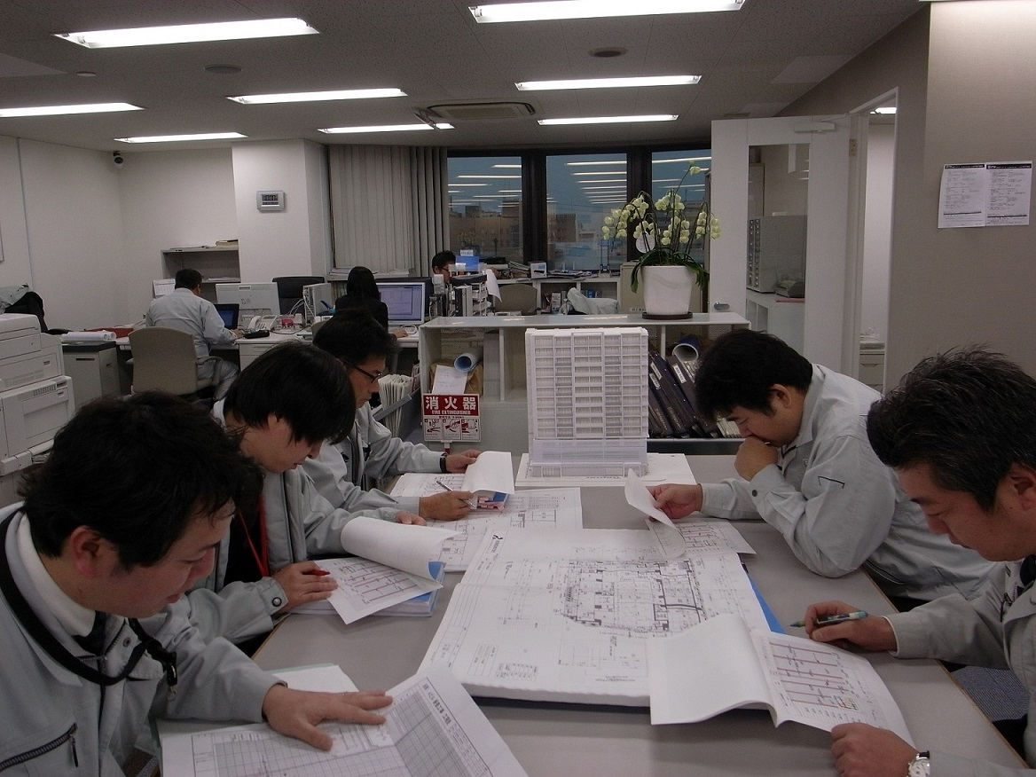 新社屋新築工事の定例会議