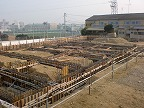 基礎コンクリート打設前。
