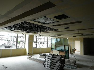 (仮称)FILA学院新築内装工事 内装工事中
