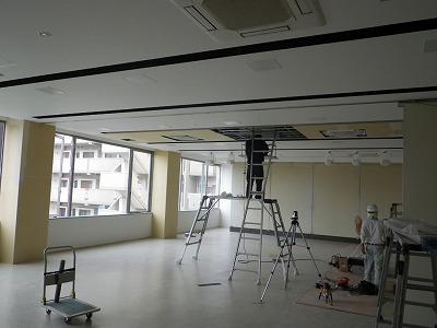 (仮称)FILA学院新築内装工事 まもなく完成