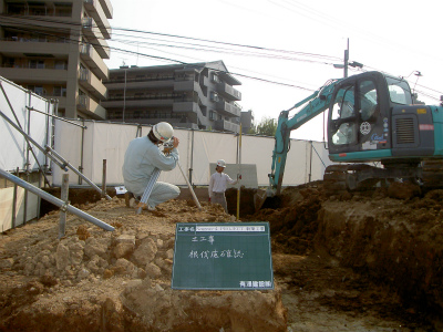 根切工事『Nagao-4PROJECT新築工事』