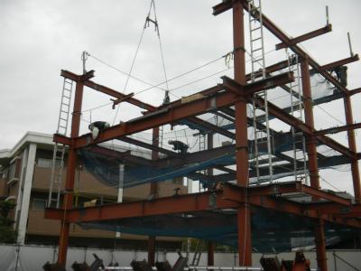 鉄骨建て方工事『Nagao-4PROJECT新築工事』