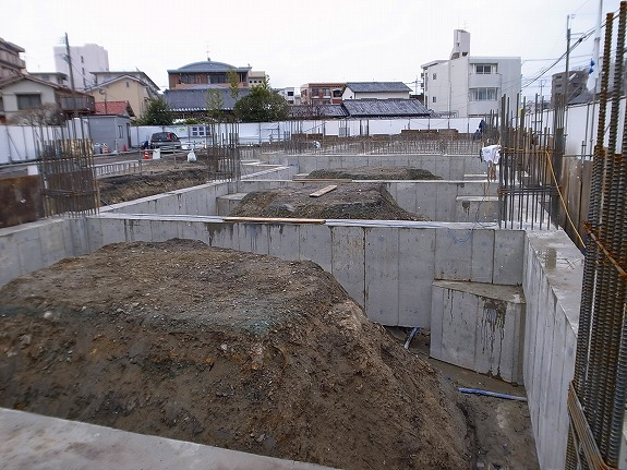 基礎工事完成『(仮称)鳥飼7丁目新築工事』
